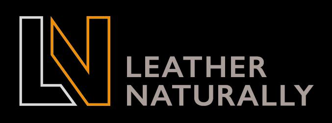 Leather Naturally logo (landscape)